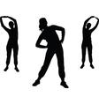 aerobics girl 2 - vector image