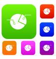 percentage diagram set color collection vector image