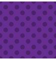 Polka dots seamless pattern purple vector image