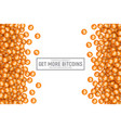 3d cryptocurrency bitcoin icons vector image