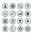 app icons universal set vector image