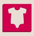 baby cloth grayscale version vector image vector image