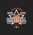 basketball logo template design vector image vector image