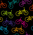 Bicycle colorful seamless vector image vector image