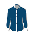 Blue shirt vector image vector image