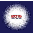 Blue- White New Year 2016 Snow Flake Background vector image vector image