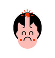 bump on head isolated pain and grief face vector image
