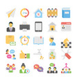 business flat colored icons 13 vector image vector image
