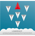 business leadership concept with red paper plane