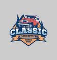 classic adventure logo template vector image