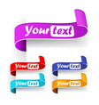 Collection of color tabs vector image vector image