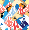 color pattern of the mountains vector image vector image