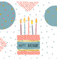 cute birthday greeting card handdrawn background vector image vector image
