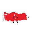 cute funny smiling happy turkey map vector image vector image