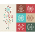 Dream catcher boho icons vector image vector image