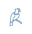 eagle line icon concept eagle flat symbol vector image vector image