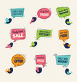 early bird special offers badges discounts labels vector image vector image