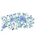 elegant floral design vector image vector image