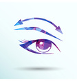 Eyelashes and eyebrows eyelash eye icon makeup vector image vector image