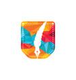 feather pocket logo design vector image vector image