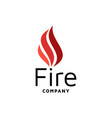 fire flame logo design inspiration vector image