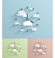 flat clock background Eps10 vector image vector image