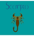 flat on background Scorpio vector image