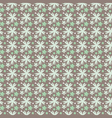 floral pattern on a dark background in vector image vector image
