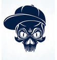 gangster skull logo icon or tattoo urban stylish vector image