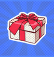 gift box pop art retro style of realistic present vector image vector image