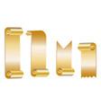 gold scroll set vector image
