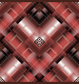 greek striped geometric 3d seamless pattern vector image vector image