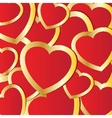 Holiday background with valentines hearts vector image vector image