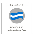 Honduras Independence Day vector image vector image