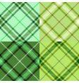 Irish tartan pattern vector image vector image
