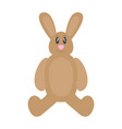 isolated stuffed rabbit toy vector image vector image