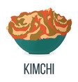 kimchi healthy food style concept icon and label vector image vector image