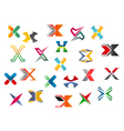 letter x symbols and elements vector image vector image