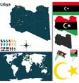 Libya map vector image vector image