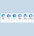 mobile app onboarding screens sick female patient vector image vector image