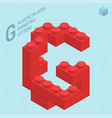 plastic blocs letter g vector image vector image
