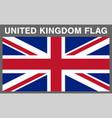 real united kingdom england flag eps10 vector image