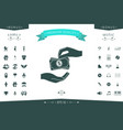 receiving money banknotes stack icon cash stacks vector image
