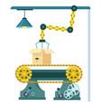 robotic conveyor belt system icon vector image