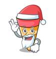 santa ice cream tone mascot cartoon vector image vector image