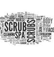 scrubs word cloud concept vector image vector image