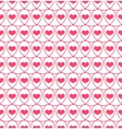 Seamless pattern with hearts in loops vector image vector image