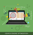 SEO Search engine optimization concept vector image vector image