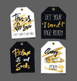 set of 8 funny gift tags lettering and doodles vector image vector image