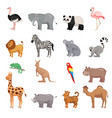 set of animals of zoo vector image